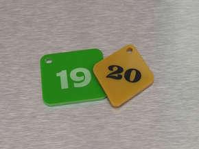 Гардеробный номерок пластиковый 19,20