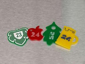 Гардеробный номерок пластиковый 23,24,25