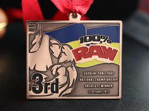 """Медаль """"100% RAW"""" Ukraine"""