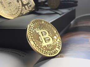 """Именная золотая монета """"Bitcoin"""""""