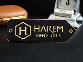 """Табличка указатель """"HAREM"""""""