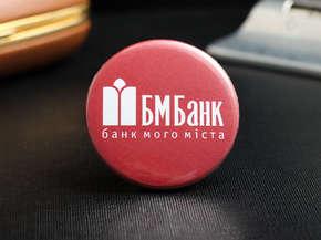 """Закатный значок """"БМ Банк"""""""