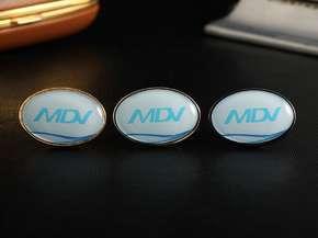 """Значок с логотипом """"MDV"""""""
